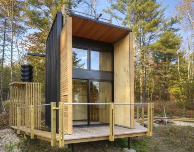 Living Off Grid in Wisconsin - Father and son build a tiny off-the-grid cabin in Wisconsin