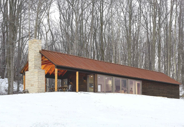 Living Off Grid - Modern Off Grid Home in Ohio Utilizes Passive Solar and Concrete Floors for Heating